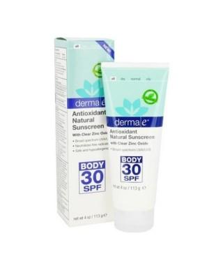 OUTLET - Derma E Antioxidant Natural Sunscreen SPF 30 Body Lotion 113gr