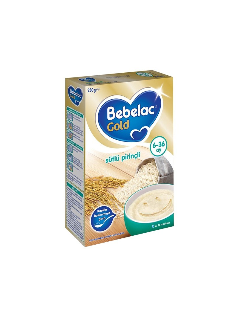 Bebelac Sütlü Pirinçli Kaşık Maması 6-36 250 gr.