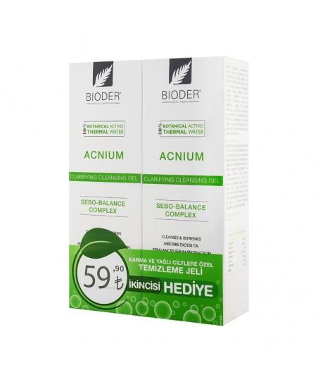 Bioder Acnium Temizleme Jeli 180ml- 2.si Hediye