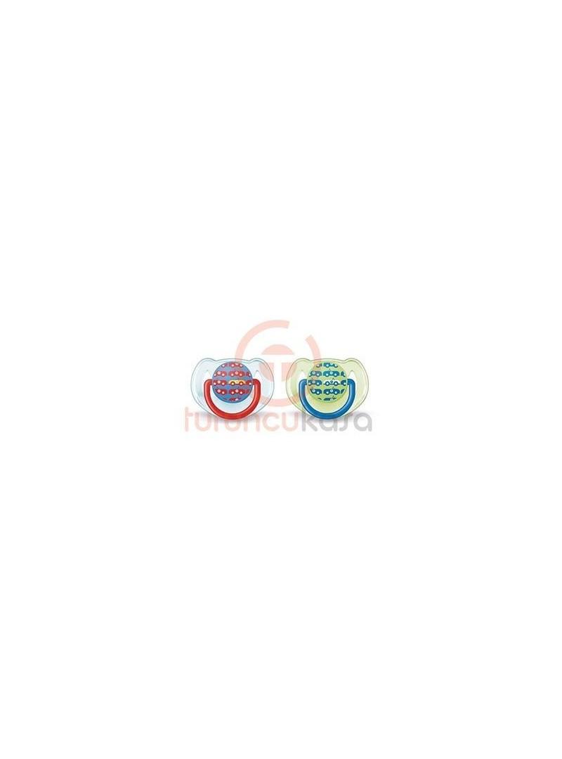 Philips Avent SCF172/62 Silikon Araba Desenli Emzik 6-18 Ay 2 li