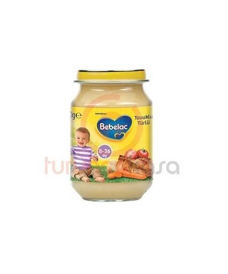 Bebelac Kavanoz Maması Tavuklu Türlü 190 g.