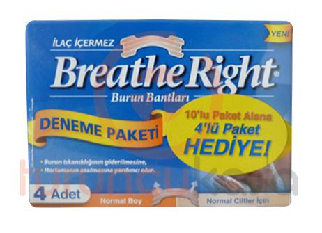 Breathe Right 10'lu Paket Alana 4'lü Paket Hediye Normal Boy