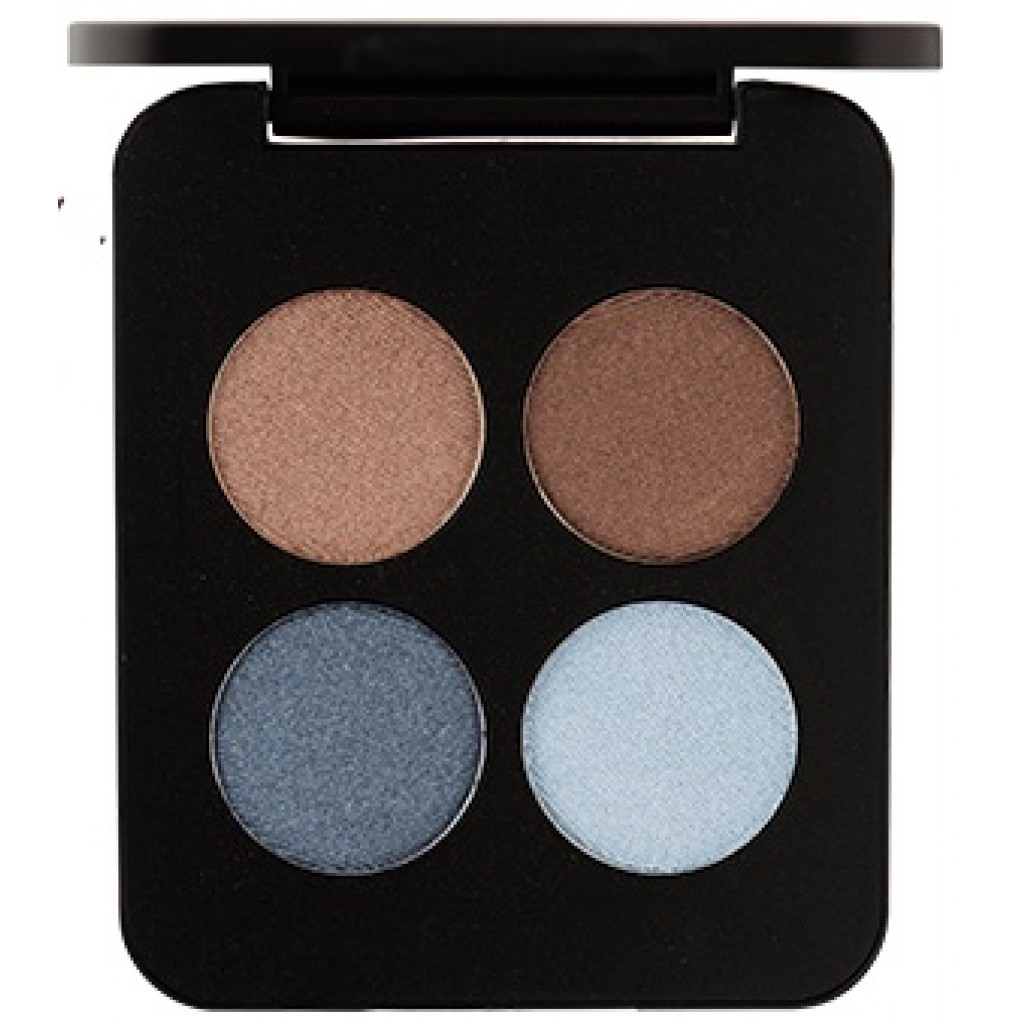 YoungBlood Pressed Mineral Eyeshadow Quad 4lü Far - Mavi Ve Kahve Tonlar :