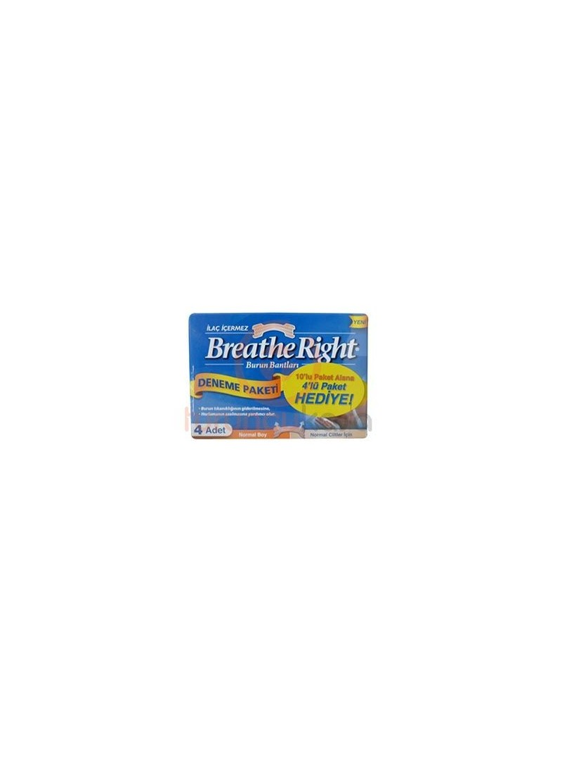 Breathe Right 10'lu Paket Alana 4'lü Paket Hediye Normal Boy