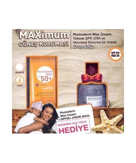 Bioderma Photoderm MAX Cream Golden SPF50+ 40 ml Alana Bioderma Sensibio H2O 100 ml Hediye