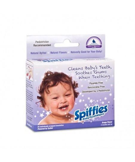 Spiffies Diş Çıkartma ve Bakım Mendilleri