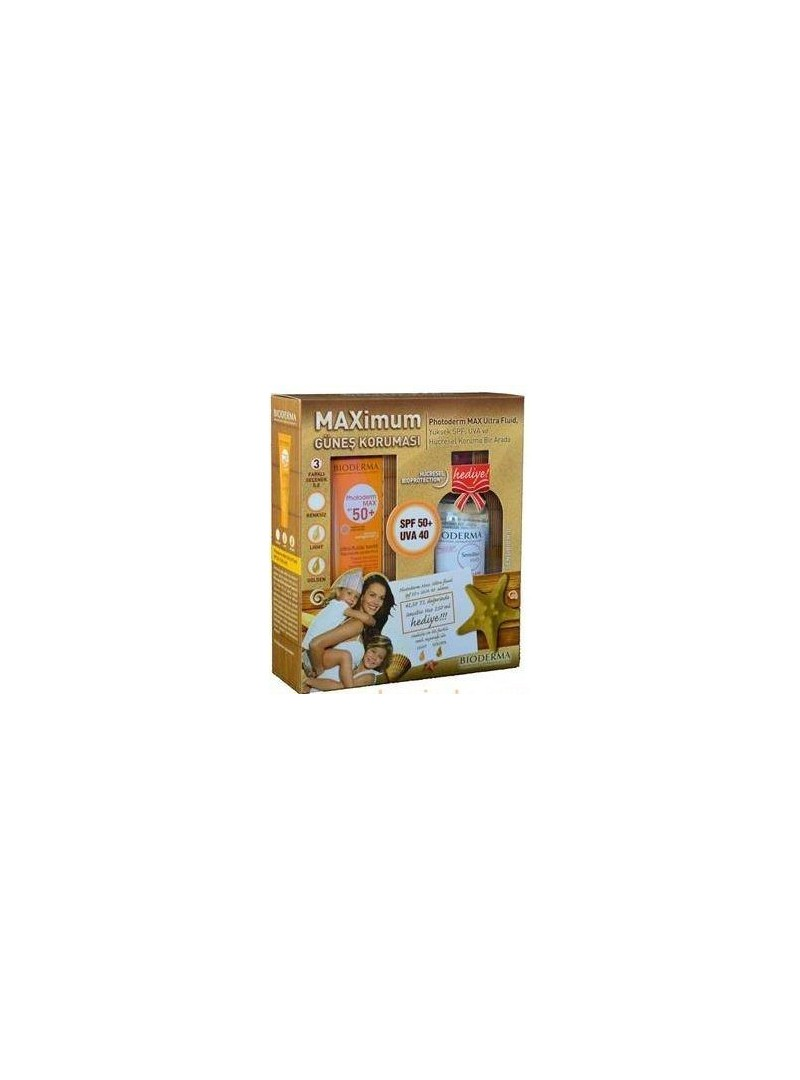 Bioderma Photoderm Max Ultra Fluid Golden SPF50+ 40 ml Alana Bioderma Sensibio H2O 250 ml Hediye