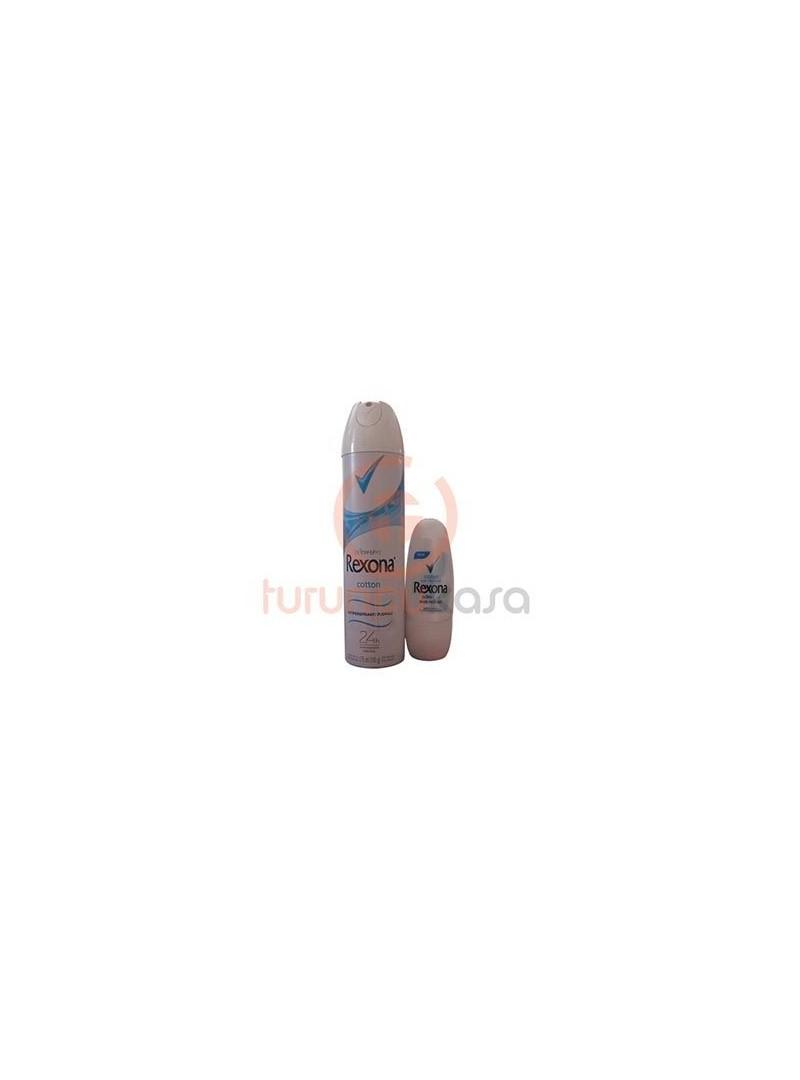 Rexona Women Cotton Antiperspirant Deodorant - Rexona Women Cotton Mini Rollon Hediyeli