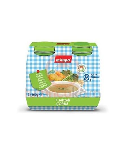 Milupa Kavanoz Maması 7 Sebzeli Çorba 2 li 190 gr