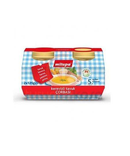 Milupa Kavanoz Maması Kerevizli Tavuk Çorbası 2 li 125 gr