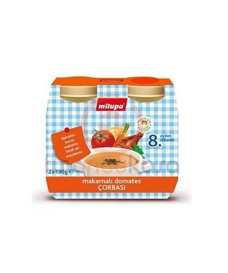 Milupa Makarnalı Hindili Domates Çorbası 2 x 190g