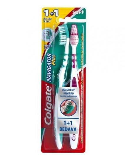 Colgate Navigator Plus Soft Yumuşak Diş Fırçası 2li Set