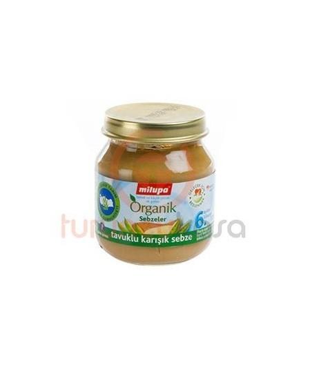 Milupa Organik Tavuklu Karışık Sebze 125 gr