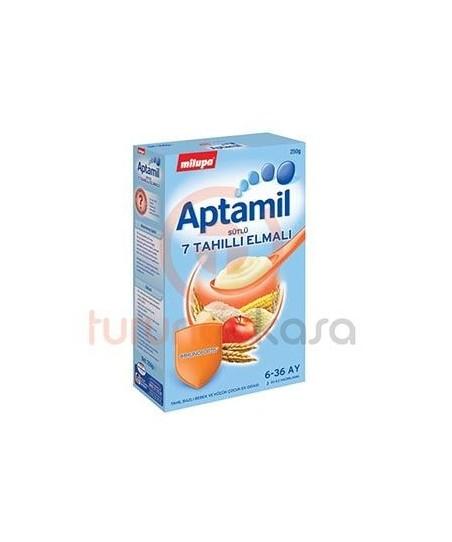 Milupa Aptamil Sütlü 7 Tahıllı Elmalı 250 gr