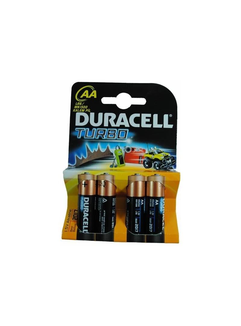 Duracell LR6 MN1500 4lü Turbo Kalem Pil