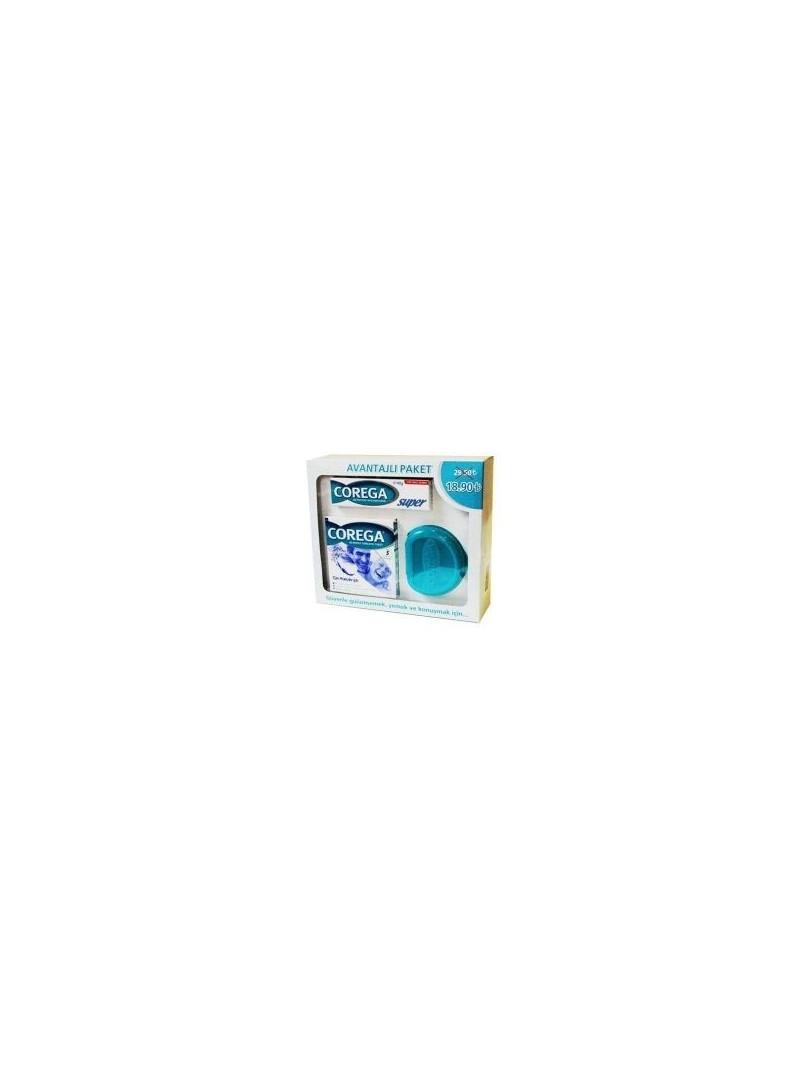 Corega Protez Yapıştırıcı Krem 40gr + Temizleyici 32 Tablet