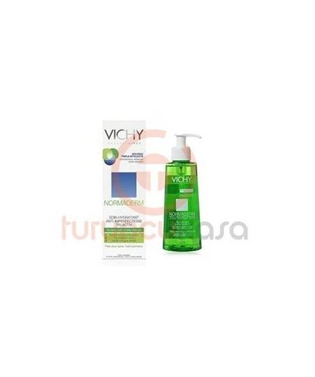 Vichy Normaderm Tri Activ Yağlı Ciltler İçin Nemlendirici 50ml Normaderm Gel Nettoyant 200 ml Hediyeli