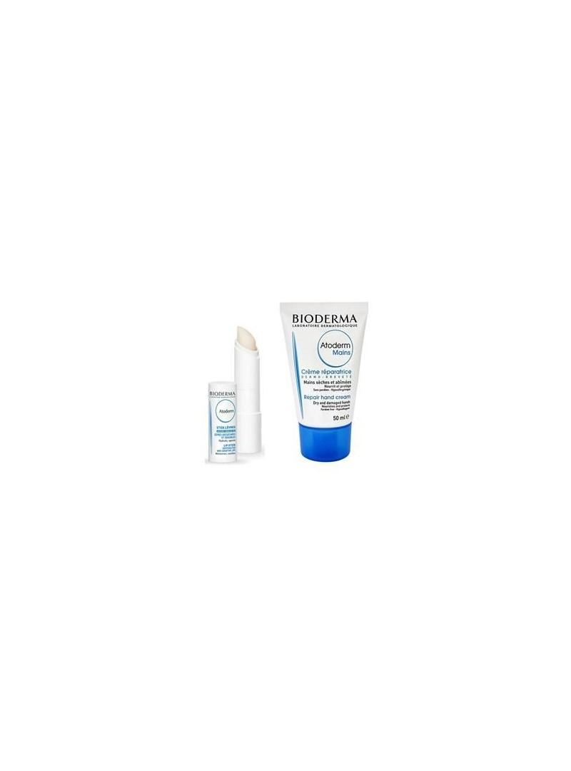 Bioderma Atoderm Mains Hand Cream+Atoderm Lipstick