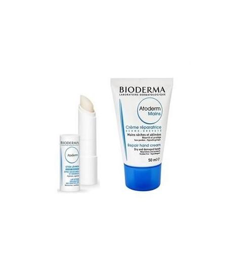 Bioderma Atoderm Mains Hand Creme+Atoderm Lipstick
