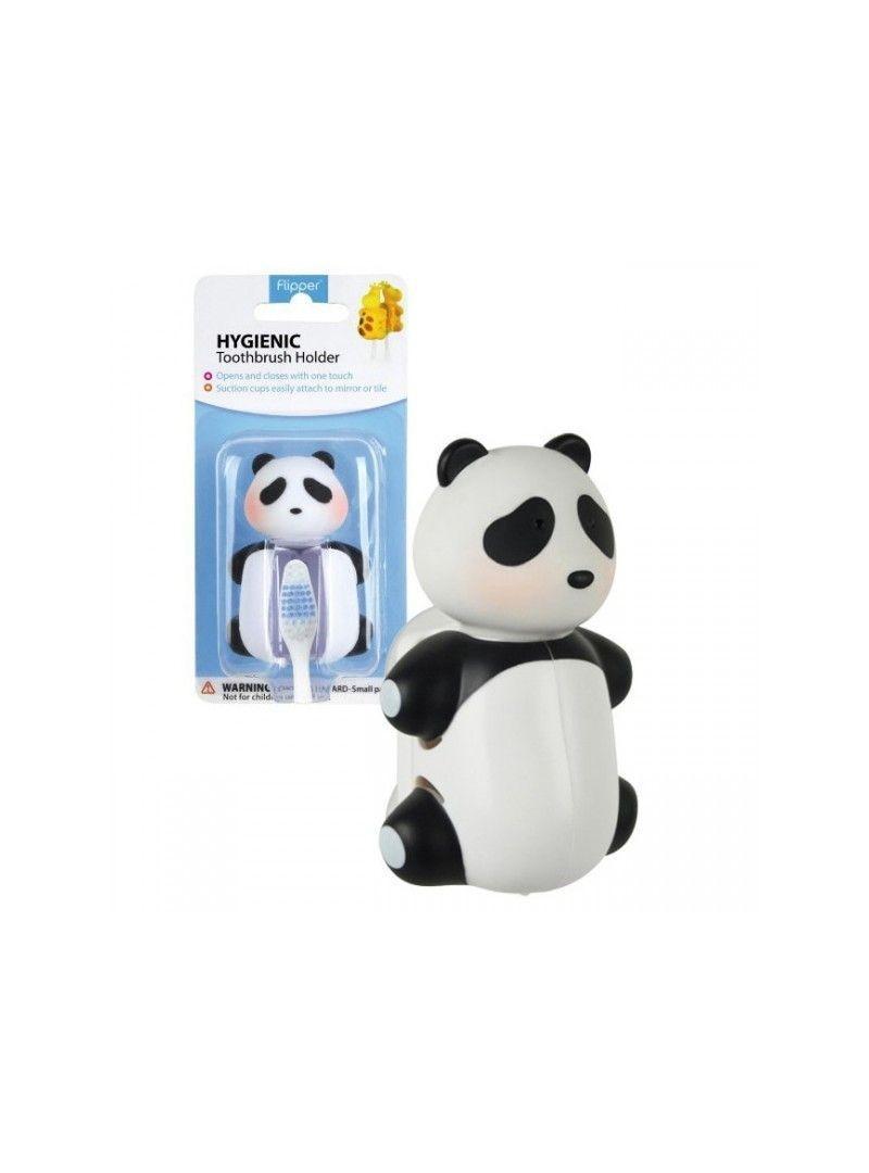 Flipper  Hijyenik Diş Fırçası Kabı Panda