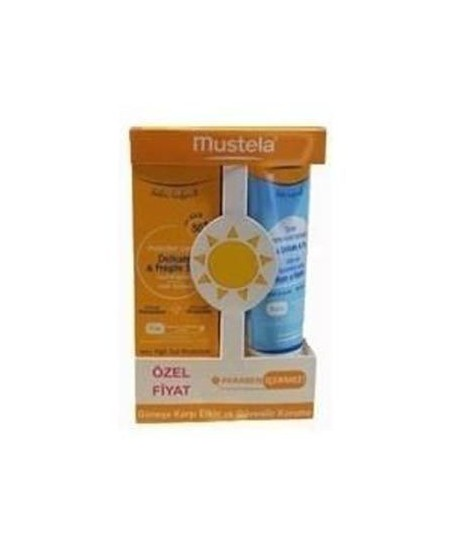 Mustela SPF 50+ Cream 75 ml + After Sun Spray 125 ml