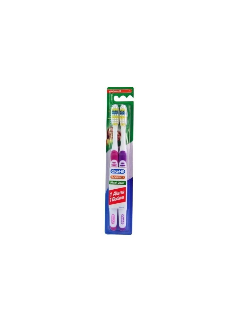 Oral B 3 Effect Maxi Clean 1 + 1 Medium 40 Diş Fırçası