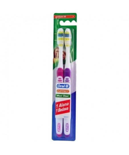Oral B 3 Effect Maxi Clean 40 Medium Dis Firçasi 1 Alana 1 Bedava Medium 40