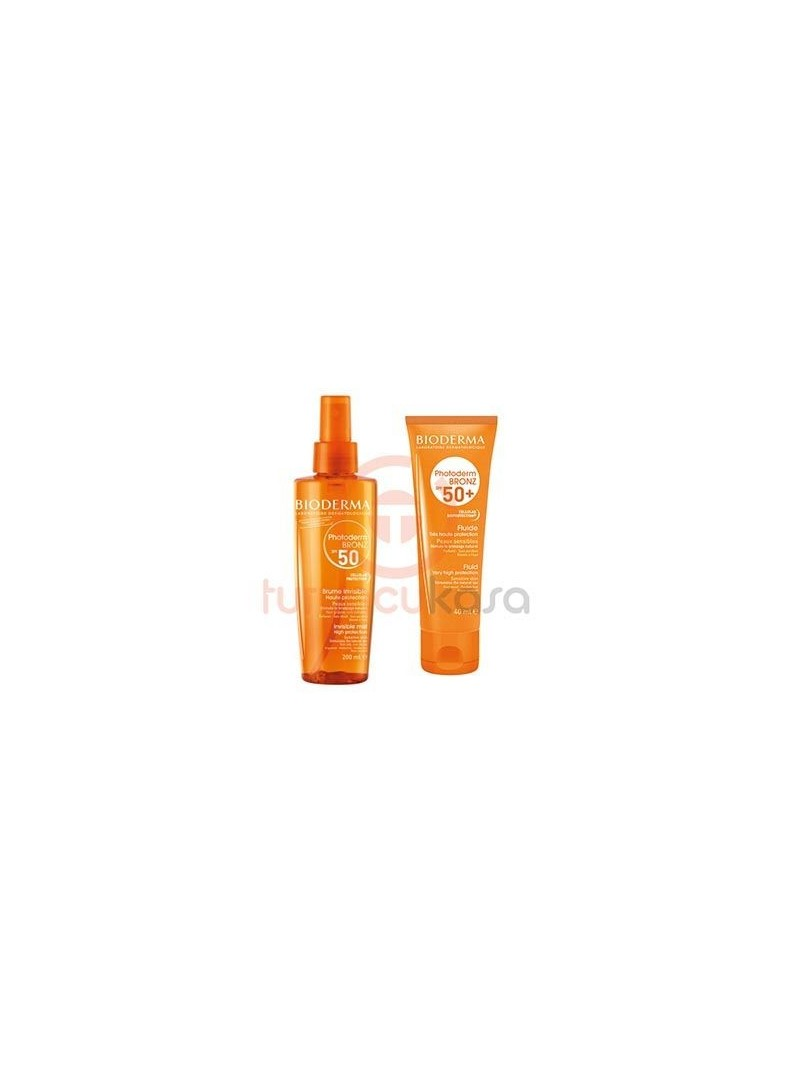 Bioderma Photoderm Bronz Spray SPF 50+ 200 ml + Bioderma Photoderm Bronz Fluide Spf50+ 40 ml