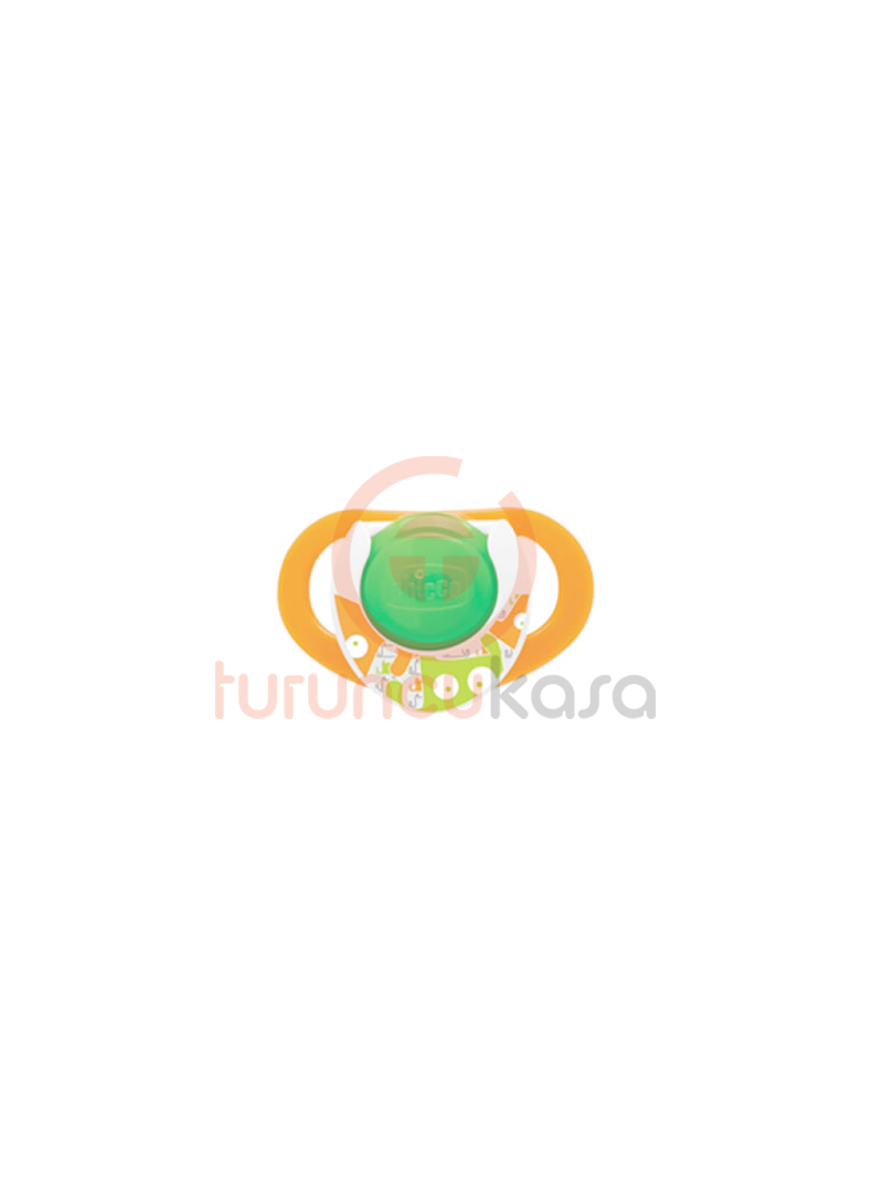 Chicco 5713 Physio Orthodontic Gece Kauçuk Emzik Tekli 12m+ Turuncu