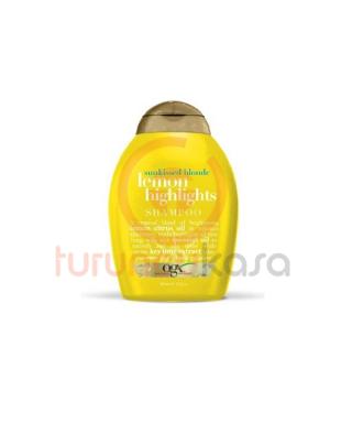 Organix Lemon Highlights Shampoo 385 ml Sarı Saçlar İçin Saç Bakım Şampuanı
