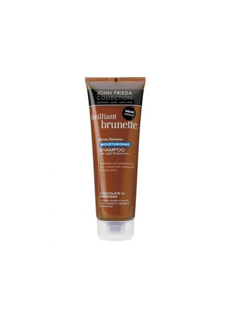 John Frieda Shine Release Moisturizing Shampoo 250 ml - Koyu Kahve Saçlar için Nemlendirici Şampuan