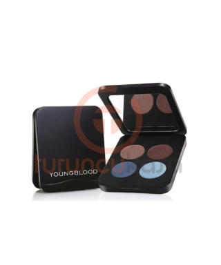 YoungBlood Pressed Mineral Eyeshadow Quad 4lü Far - Mavi Ve Kahve Tonlar