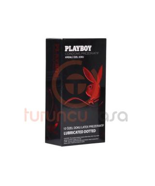 Playboy Dotted Özel Kabartma Yüzeyli 12'li Prezervatif
