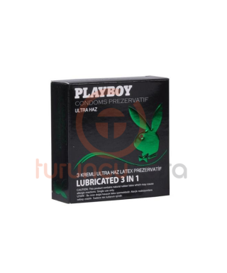 Playboy 3in1 Ultra Haz 3'lü Prezervatif