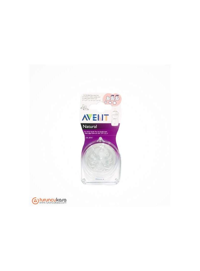 Avent SCF655/27 Natural Biberon Emziği 1 Kesik Akış Ayarlı, 3m+ 2'li