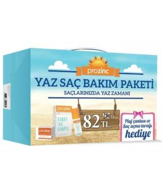 Prozinc Yaz Saç Bakım Paketi - Plaj Çantası Hediyeli