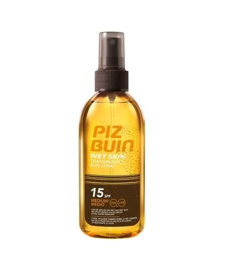 Piz Buin Transparan Islak Cilde Uygulanabilen Güneş Spreyi SPF 15 150 ml
