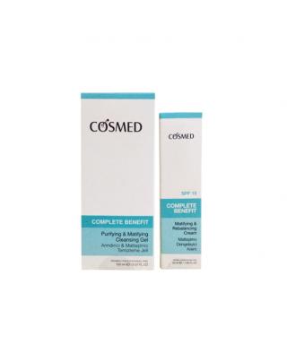 Cosmed Complete Benefit Arındırıcı ve Matlaştırıcı Temizleme Jeli 150 ml + Matlaştırıcı Dengeleyici Krem 50 ml