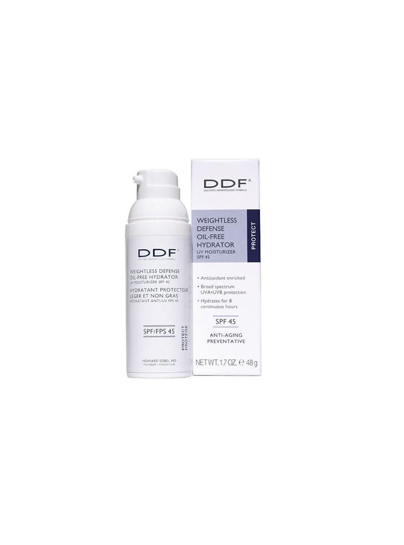 DDF Weightless Defense Oil Free Hydrator UV Moisturizer SPF 45 48 ml