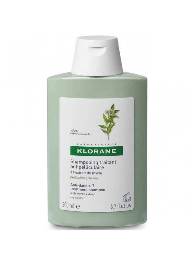 Klorane Myrte Shampoo 200 ml Yaban Mersini Ekstresi İçeren Yağlı Kepeğe Karşı Bakım Şampuanı