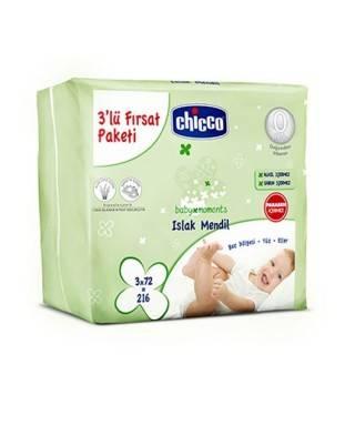 Chicco 3'lü Paket Islak...