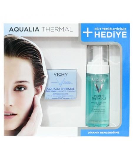 Aqualia Thermal Creme Legere Normal ve Karma Ciltler için Kofre - Purete Thermale Temizleyici Köpük 150ml Hediye