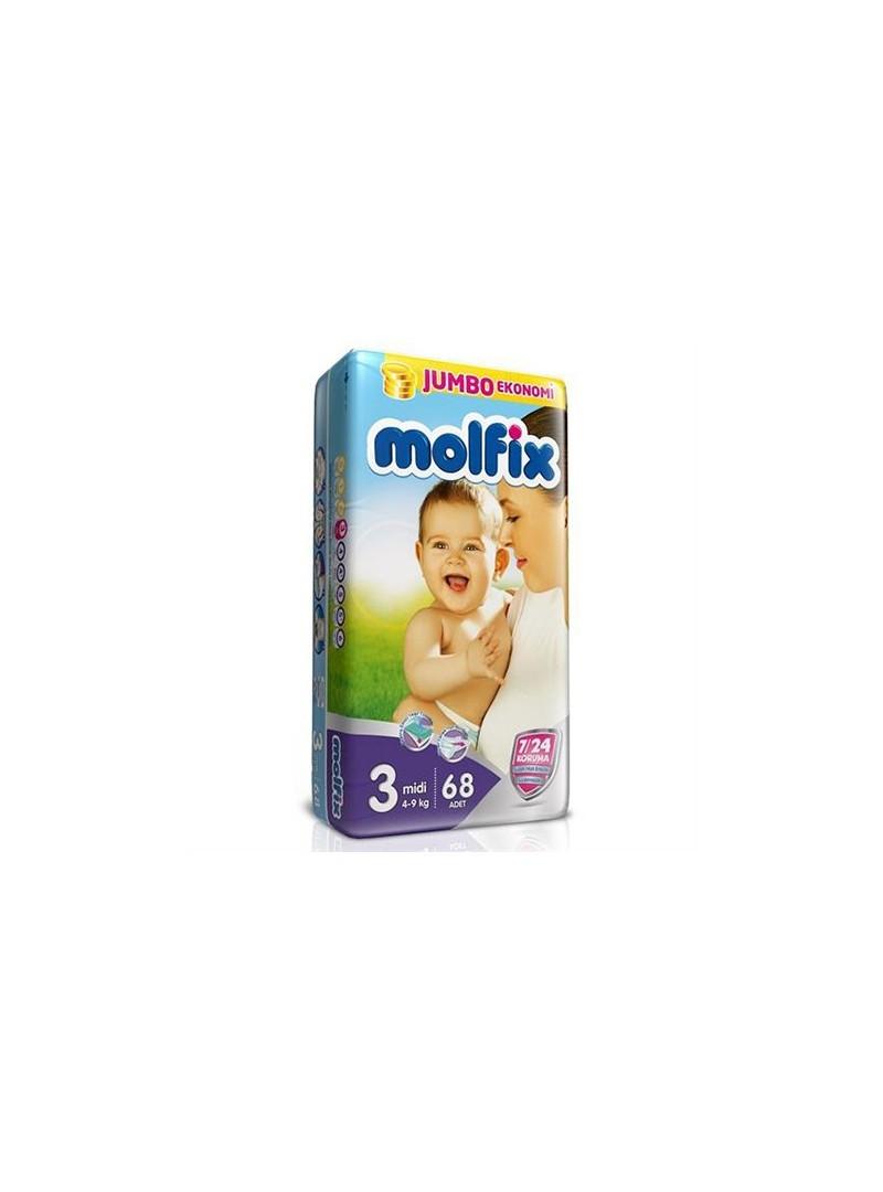 Molfix Jumbo 3 Numara (4-9 kg) 68 Adet