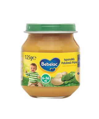 Bebelac Kavanoz Maması Ispanaklı Patates Püresi 125 gr.