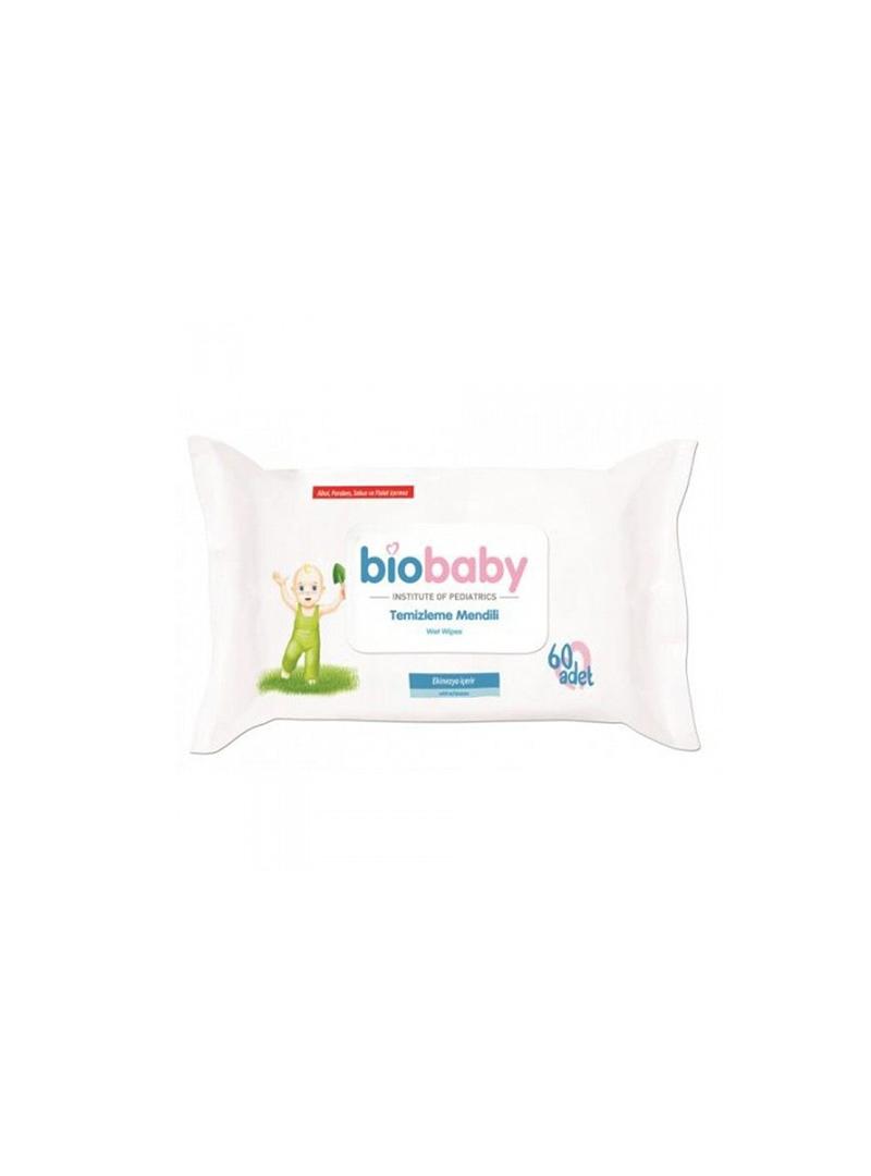 BioBaby Temizleme Mendili 60 Adet