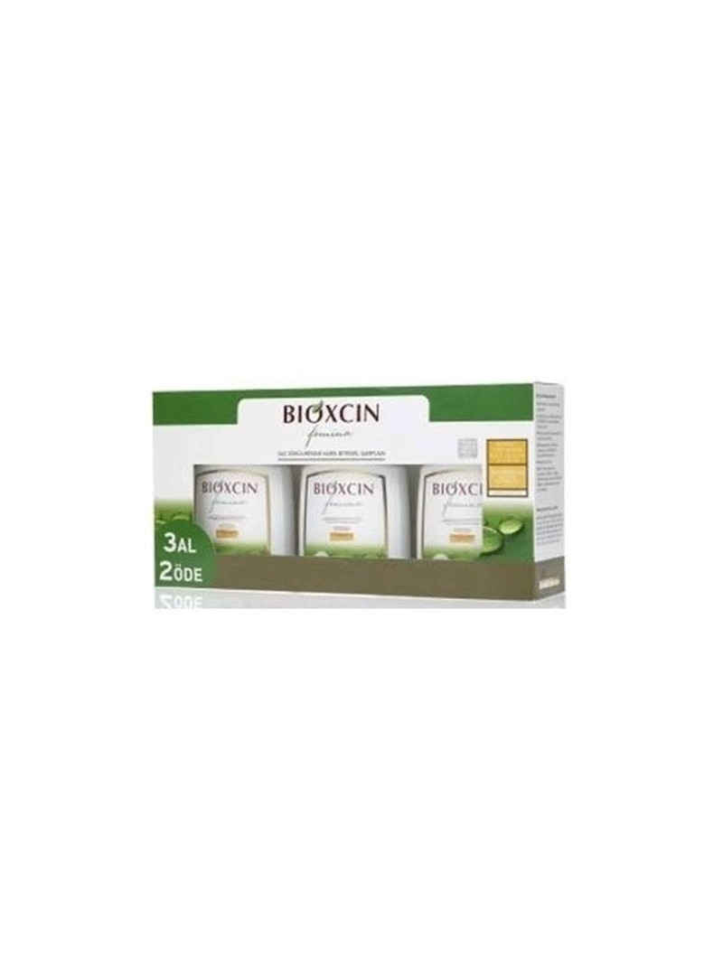 Bioxcin Femina 3 Al 2 Öde 2'si 1 Arada Yıpranmış Saçlar için Şampuan 300 ml