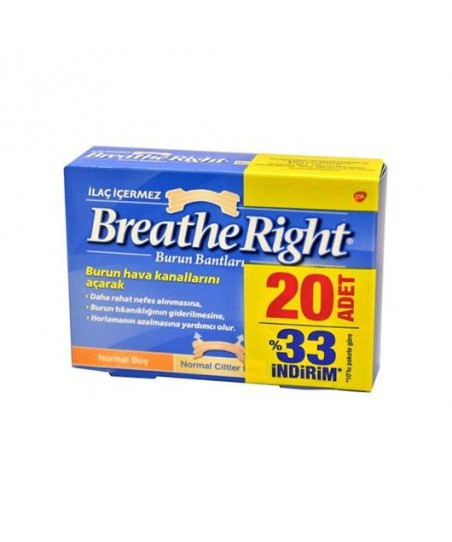 Breathe Right Burun Bandı Normal Boy 20 Adet %33