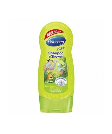 Bübchen Çoçuk Şampuan Ve Duş Jeli Jungle 230 ml