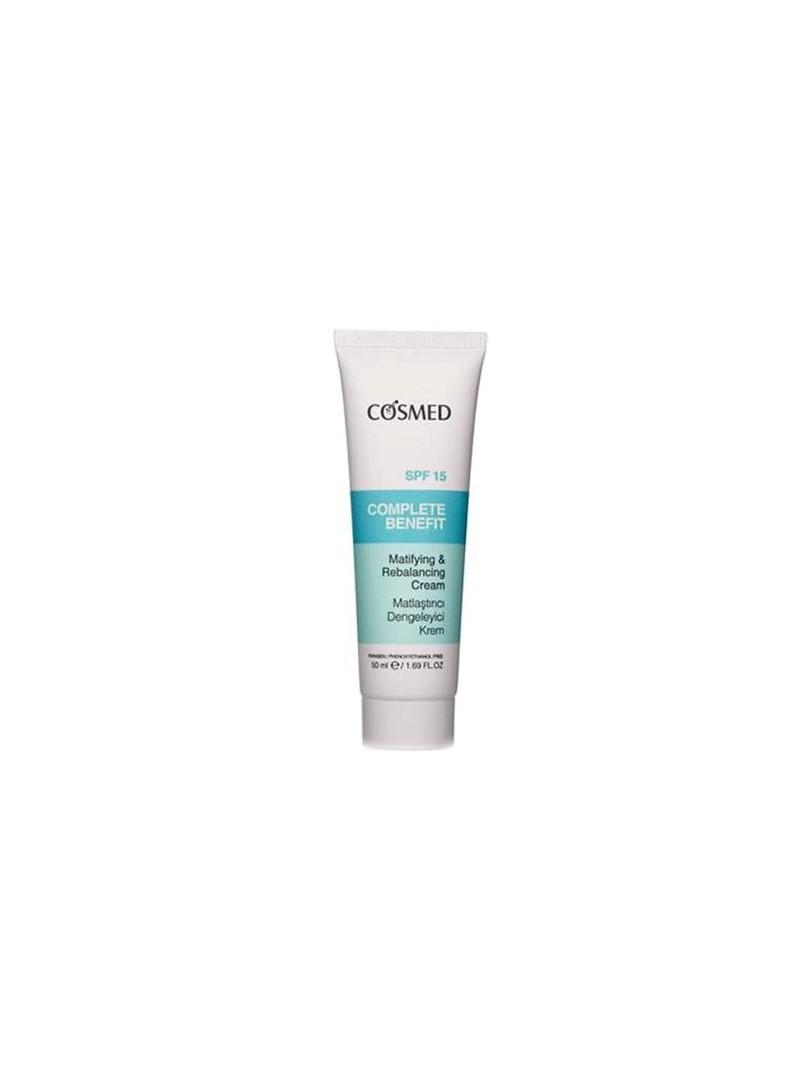 Cosmed Complete Benefit Matlaştırıcı Dengeleyici Krem spf 15  50 ml