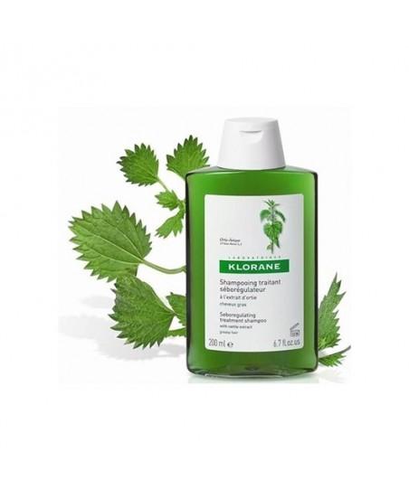 Klorane Ortie Shampoo 200 ml Isırganotu Ekstresi İçeren Yağlı Saçlar İçin Bakım Şampuan